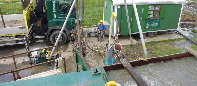 Ontwikkelen pompput voor een maximale toevoer van grondwater.
